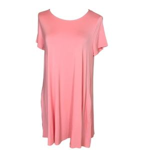 Anges Dora Swing Tunic Size Large Pink Coral NEW